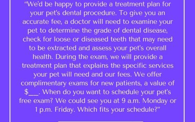 Don't quote dental prices over the phone